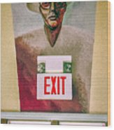 Fellini's Exit - Nola Wood Print
