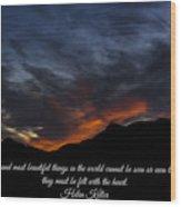 Felt By The Heart Wood Print