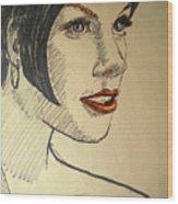 Felt Tip Female Wood Print