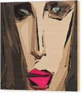 Female Expressions Xiv Wood Print