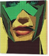 Female Expressions Xv Wood Print