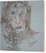Female  Face Study  A Wood Print