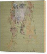Female Face Study  C Wood Print