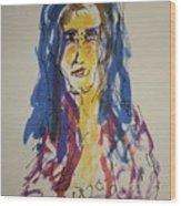 Female Face Study Y Wood Print