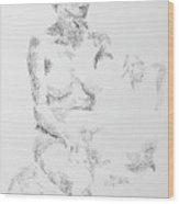 Female Figure 104 Wood Print