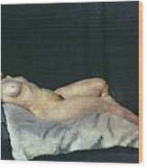Female Figure Lying On Her Back Wood Print