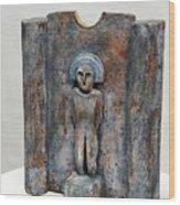 Female Figurine - Goddess Worship - Matrone - Matrones -matronen - Matrona - Diosa-nettersheim Eifel Wood Print by Urft Valley Art