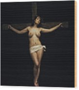 Female Jesus Wood Print