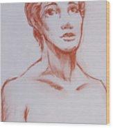 Female Model 10 Wood Print