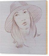 Female Model 24 Wood Print