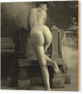 Female Nude, Circa 1900 Wood Print