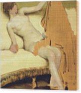 Female Nude Wood Print by Sir Lawrence Alma-Tadema