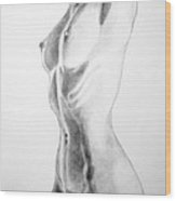 Female Nude Three Wood Print