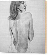 Female Nude Two Wood Print