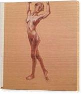 Female Nudity  Wood Print