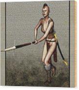 Female Pike Guard - Warrior Wood Print