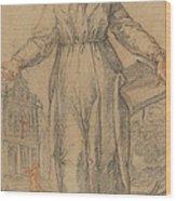 Female Saint (saint Clare Of Assisi Or Saint Catherine Of Siena?) Wood Print