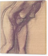 Female Standing Nude Wood Print
