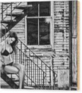 Feminine Stairwell Wood Print