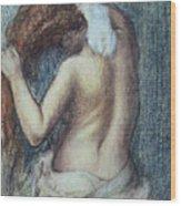 Femme A Sa Toilette Wood Print by Edgar Degas