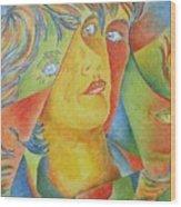 Femme Aux Trois Visages Wood Print