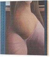 Femme Aux Volets Wood Print