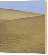 Femme Dans Les Dunes. Wood Print