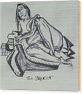 Femme En Misere Wood Print