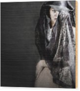Femme Fatale Wood Print