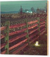 Fence And Luminaries 11 Wood Print