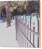 Fence Lines Wood Print