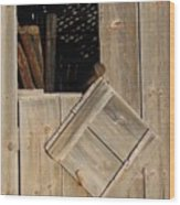 Fence Posts In Barn Wood Print