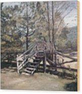 Fence Stile Wood Print
