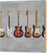 Fender Guitar Collection Wood Print