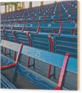Fenway Bleachers Wood Print by Michael Yeager