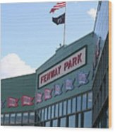 Fenway Park Centennial Wood Print by Loud Waterfall Photography Chelsea Sullens