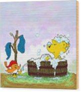 Ferald's Bubble Bath Wood Print