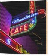 Ferguson's Diner Wood Print