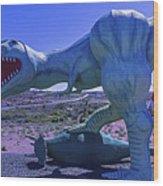 Ferious Dinosaur Trex Wood Print
