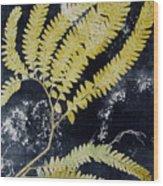 Fern Monoprint Wood Print