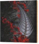 Silver Fern  Wood Print