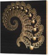 Fern-spiral-fern Wood Print