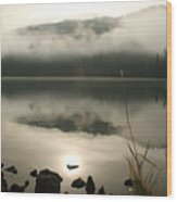 Fernan Fog Wood Print