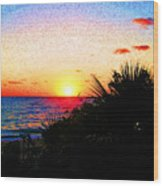 Fernandez Bay Sunset Wood Print