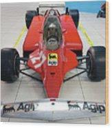 Ferrari 126ck Front Museo Ferrari Wood Print