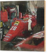 Ferrari 156/85 Wood Print