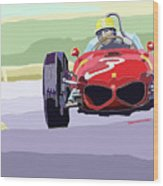 Ferrari 156 Dino 1962 Dutch Gp Wood Print by Yuriy  Shevchuk