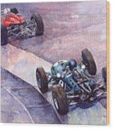 1964 Ferrari 158 Vs Brabham Climax German Gp 1964 Wood Print