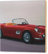 Ferrari 250 Gt California Spyder 1957 Painting Wood Print