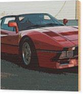 Ferrari 288 Gto - Powerslide Wood Print